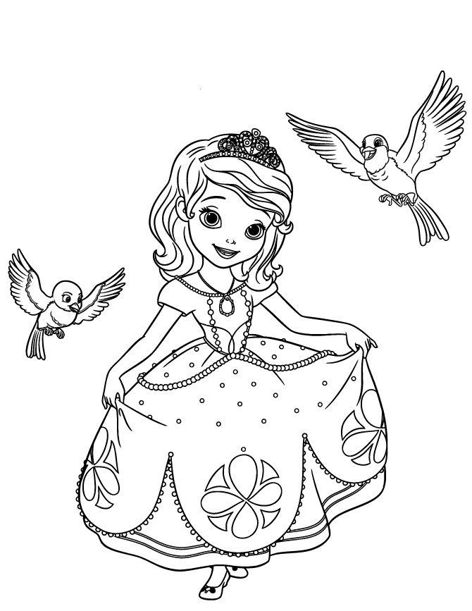 Sofia the first disney princess coloring pages dibujos para pintar y colorear gratis ideas - Princesse sofia coloriage ...