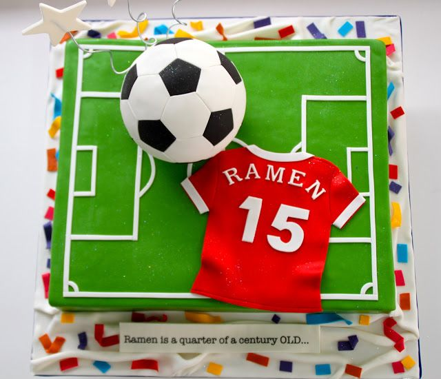 Football cake - For all your cake decorating supplies, please visit craftcompany.co.uk