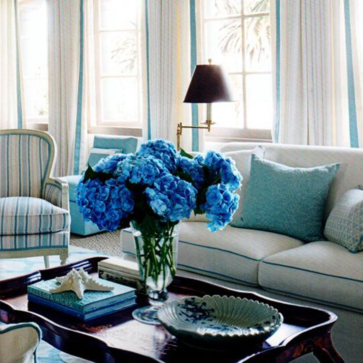 montecito mark d sikes interiors decorating ideasdecor ideasblue - Blue Cafe Decorating