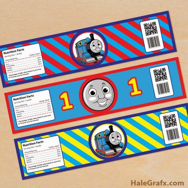 FREE thomas the tank engine party water bottle labels