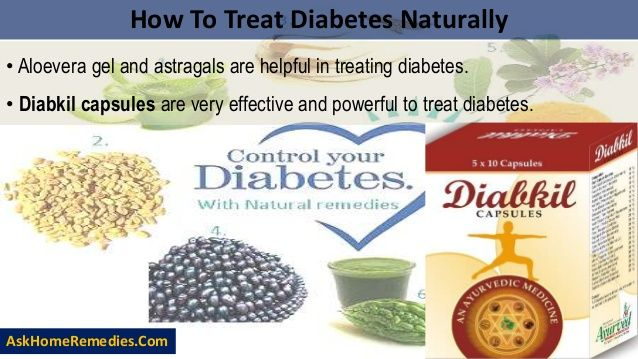 How To Treat Diabetes Naturally  • Aloevera gel and astragals are helpful in treating diabetes.  • Diabkil capsules are very...