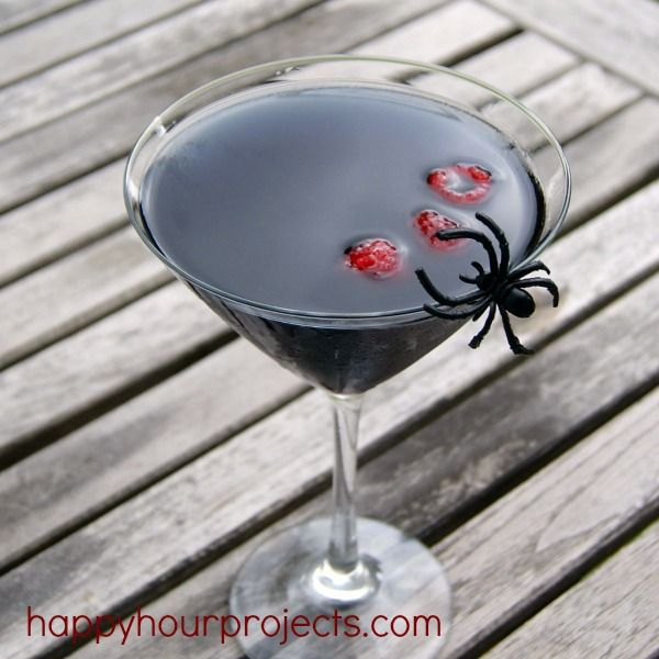 Black Widow #Halloween Martini