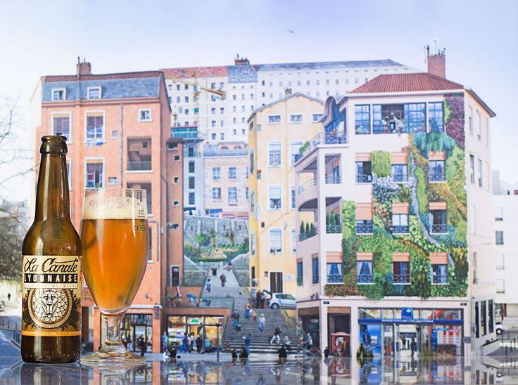 """Tête d'Or (La Canute Lyonnaise - France) -  Calendrier de l'après """"Une petite mousse""""  Bières artisanales françaises -  Mur des canuts (Lyon)"""