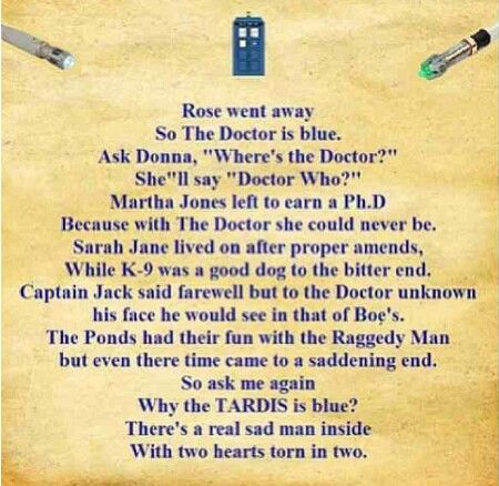 Doctor who poem sadness
