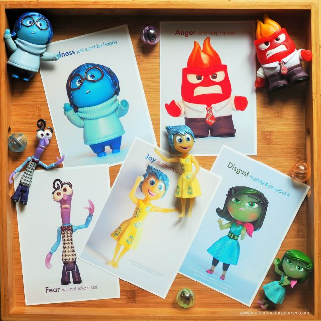 Talking to Kids about Emotions { Free Inside Out Printable Feelings Flash Cards } #PlayNGrow AD