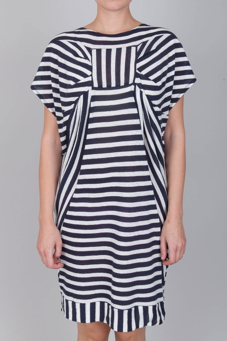 Tsumori Chisato - Stripe Dress - Navy .