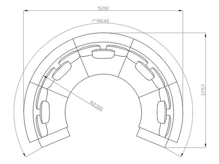 Купить круглый диван KD 02 под заказ по Вашим размерам.