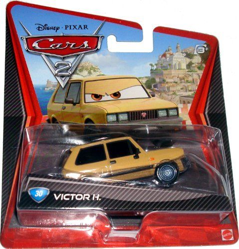 Disney / Pixar CARS 2 Movie 155 Die Cast Car #30 Victor H. by Mattel Toys. $10.90. All your favorite characters from the Disney Pixar film, CARS 2, in 155th scale. With authentic styling and details, these die cast characters are perfect for recreating all the great scenes from the movie. Collect them all!Star racecar Lightning McQueen and the incomparable tow truck Mater take their friendship to exciting new places in Disney Pixar Cars 2 when they head overseas to compete in t...