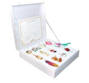 Old World Christmas Bride's Collection Ornament Box Set 1