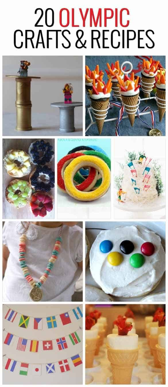 20 Olympic crafts and recipes your kids will love.