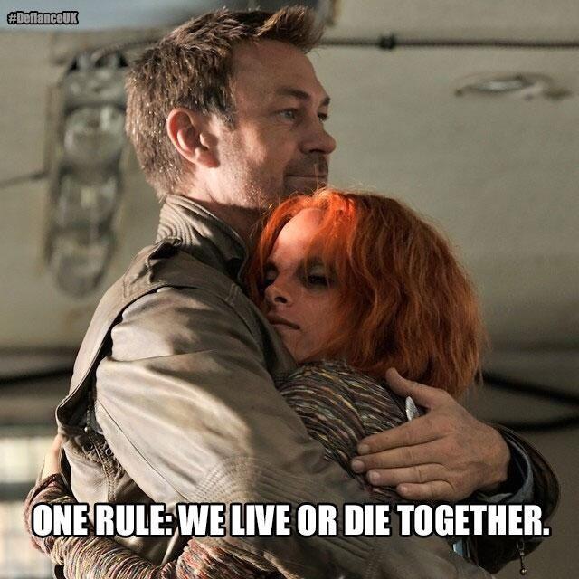 @SyfyUK: One rule: We live or die together. #DefianceUK Irisa & Nolan