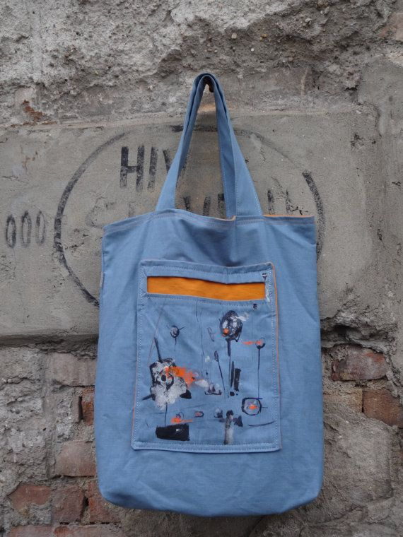 Canvas Tote Bag  Hand Painted Wearable Art by koatye1 on Etsy