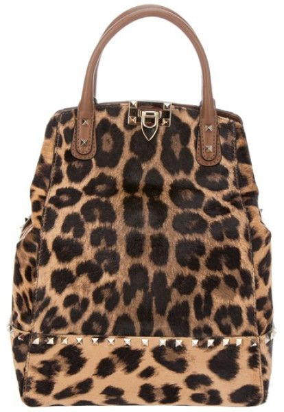 VALENTINO                                                                                                               Brown Leopard Print Tote                                                                                                              ✤HAND'me.the'BAG✤
