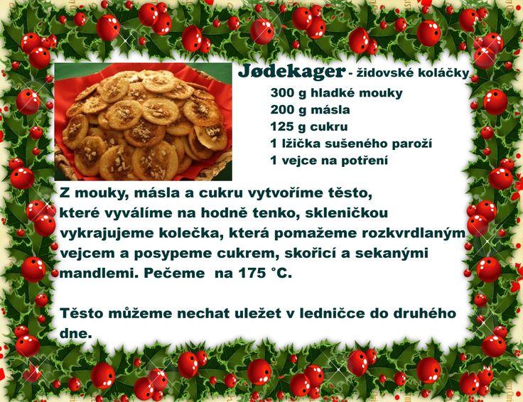 Jødekager - židovské koláčky, Dánské cukroví