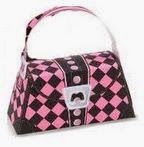 Monster High Free Printable Paper Purses in Pink.