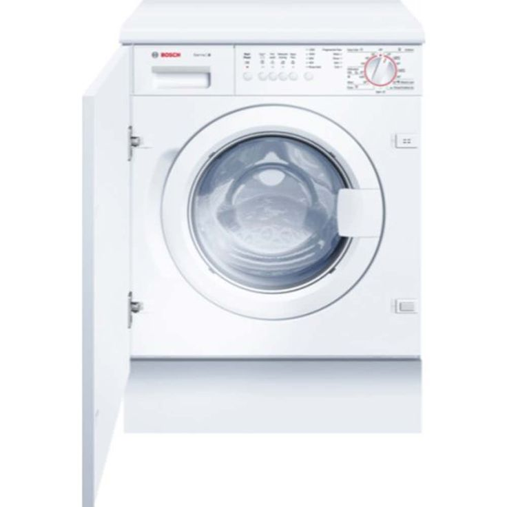 The Bosch WIS24141GB 1200rpm 7kg integrated washing machine offers the latest in modern washing performance. A great combination of low energy consumption and noise levels, quality performance and durability. It offers a fully integrated design with the latest eco friendly features, making it ideal for any modern home. | K014265