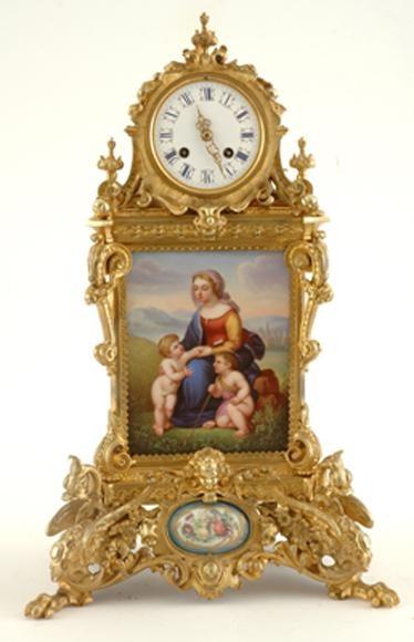 French gilt bronze mantel clock Levy Freres, circa 1880,