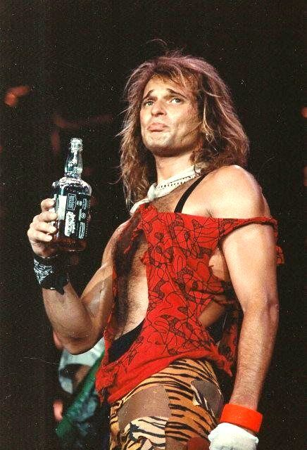 David (Beef Broth) Lee Roth with the obligatory bottle of ice tea.