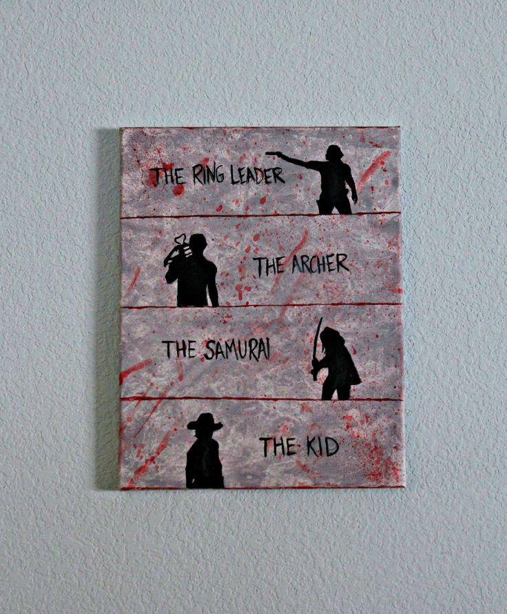 The Walking Dead Box Car A Canvas Painting by PaintedNerd on Etsy