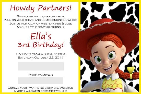 toy story invitation--Jessie