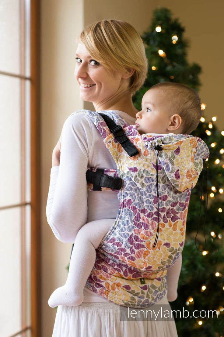 ERGONOMIC CARRIER, TODDLER SIZE, JACQUARD WEAVE 100% COTTON - WRAP CONVERSION FROM COLORS OF LIFE - SECOND GENERATION