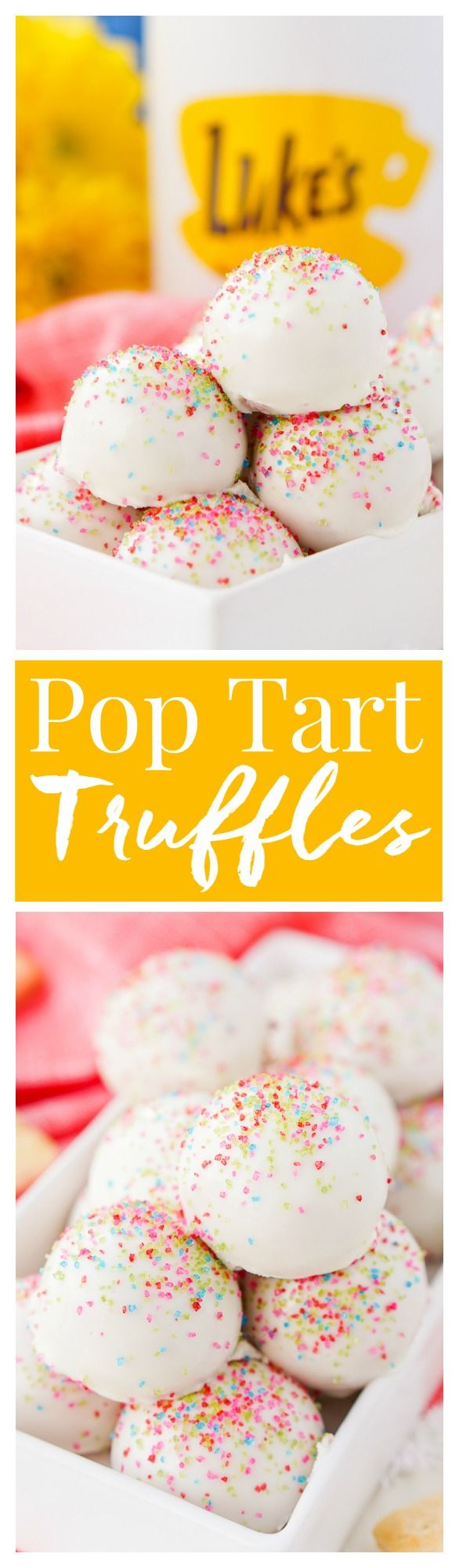 These Gilmore Girls Pop Tart Truffles are something Lorelei would definitely have whipped up for one of Rory's Bake Sales, and you should whip them up for your A Year In The Life Revival party!