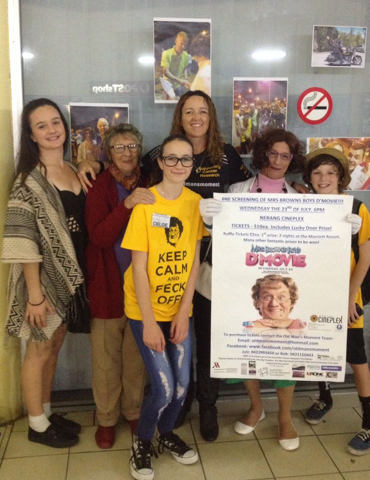 Raising money for cancer research! Mrs Browns Boys D'Movie. $2535.10 to the Australian Cancer Research Foundation!