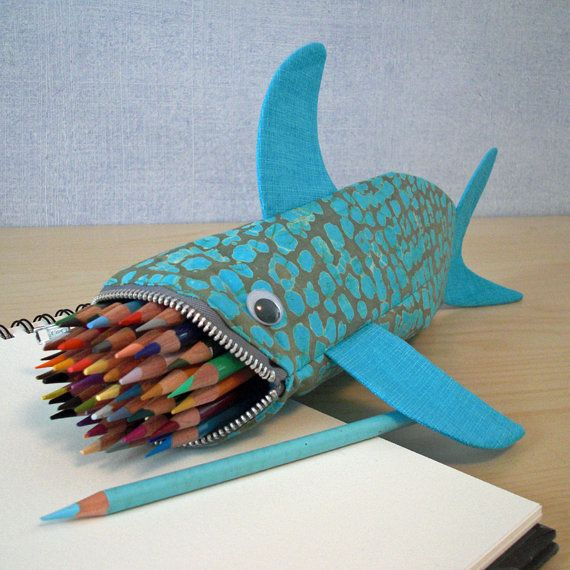 Proceeds to ocean conservation shark case by minnebites for Fish pencil case