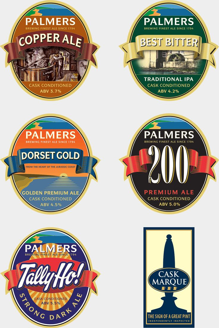 Palmers Brewery have been brewing five fine ales in Bridport, Dorset since 1794: Copper Ale, Best Bitter, Dorset Gold, 200 and Tally Ho!