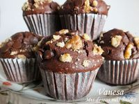 Muffins de chocolate y nueces superfacil de hacer y rapido!!!☺