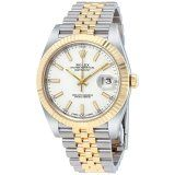 Rolex Datejust 41mm 126333 White Dial Steel and 18K Yellow Gold