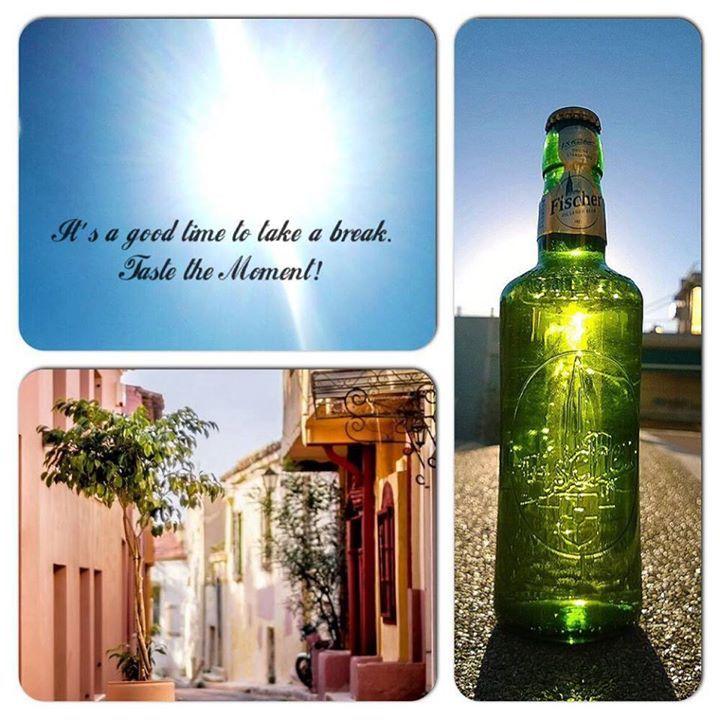 Let the sunshine in! #Selfie #Fischer #Beer #Quote #TasteTheMoment