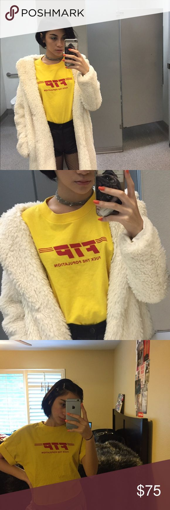 rare FTP DHL style tee yellow FTP tee w/ DHL style w/ a raw cut .. pretty rare shirt 🌹🌹price negotiable #ftp not #supreme #bape #thrasher #palace #offwhite #yeezy FTP Tops Tees - Short Sleeve