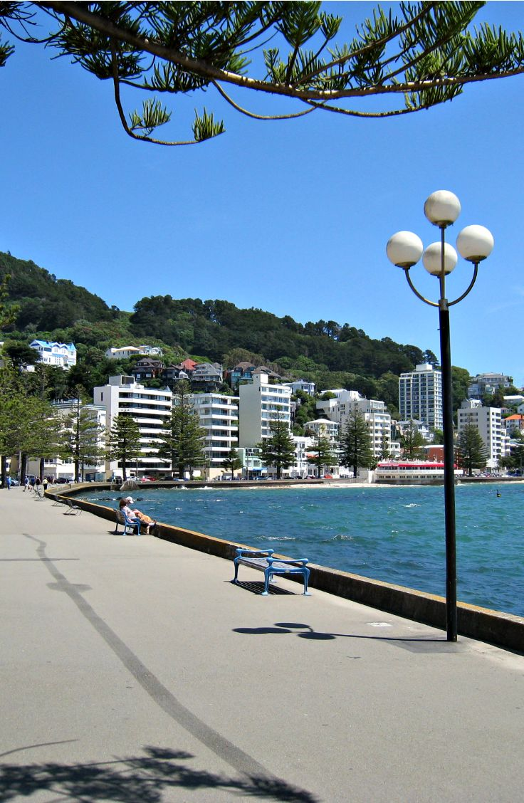 Oriental Bay, Wellington. New Zealand