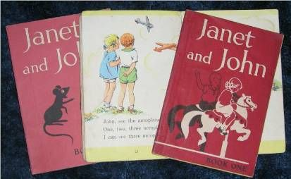Janet and John books - this book one is still knocking around at my mum's and I got hold of a new 'retro' copy last year for my own book shelf.