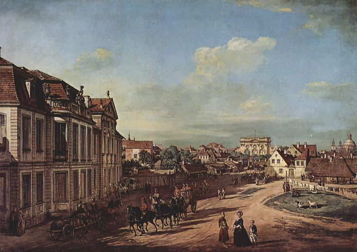View of the Square of Zelazna Brama, Warsaw - Bernardo Bellotto