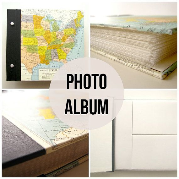 Custom Photo Album With Personalized Title by VintagePageDesigns, $50.00 #travel