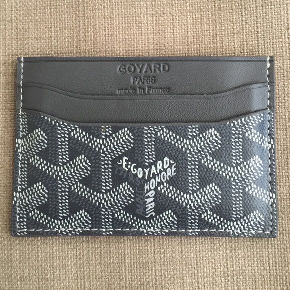 Goyard Card Case % Authentic! Used but in excellent condition. Color: Grey. Stretched out a bit due to previous use. No cards, no box, no tags. NO TRADES. Reasonable offers welcomed! Goyard Accessories Key & Card Holders