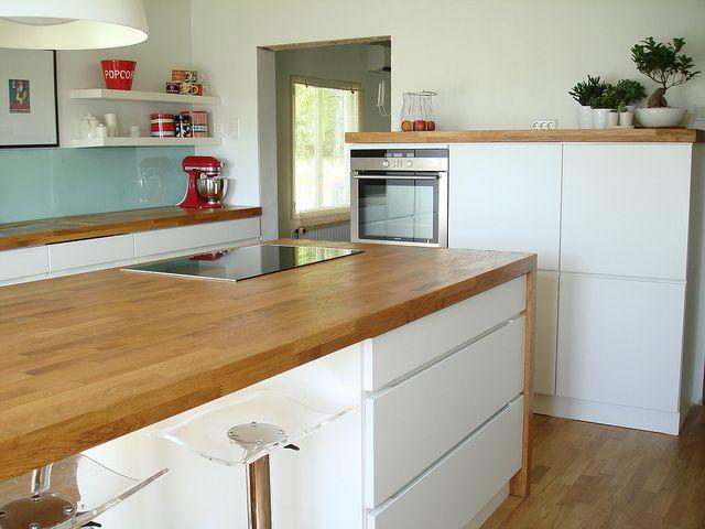 Wordt onze kvik keuken met houten blad.