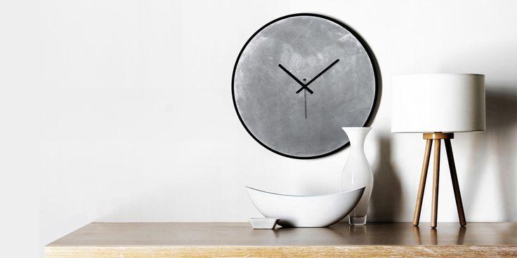 Concrete wall clock   xline