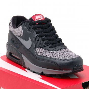Nike Air Max 90 Essential Black Cool Grey Anthracite - Mens Shoes from Attic Clothing UK