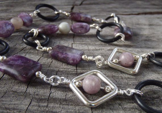 Trendy Purlesque Necklace Handmade with Purple by BrigittesJewels, $68.00