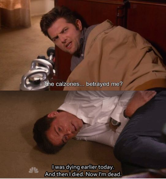 "When the guys got food poisoning… | 23 ""Parks And Rec"" Moments Guaranteed To Make You Laugh"