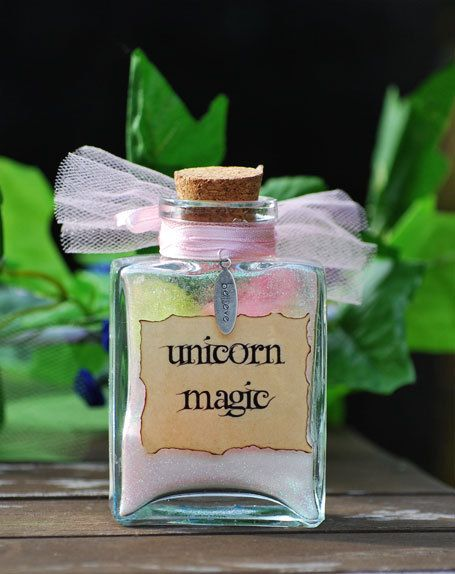 good idea for a party favor..hmm Unicorn Magic by enchantedbyfae on Etsy, $11.00
