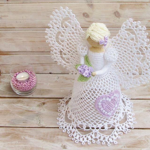 diese wunderbaren gehkelten engel macht man einfach selber mit diesem gratis muster diy bastelideen engel pinterest - Ngel Muster Selber Machen
