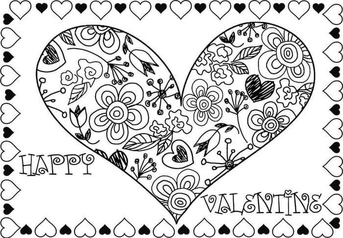 Printable February Coloring Pages Pdf Free Coloring Sheets Heart Coloring Pages Valentines Day Coloring Page Valentines Day Coloring