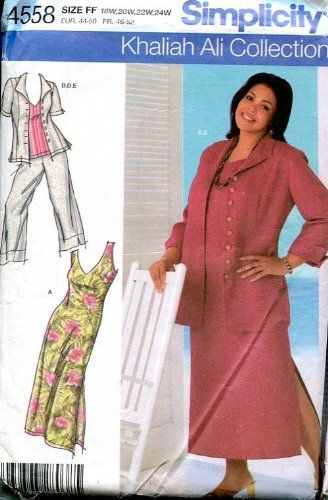 Simplicity Sewing Pattern 4558 Khaliah Ali Womens Cropped Pants