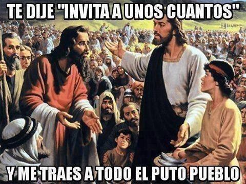 Cuando llega gente que ni conoces a tu fiesta: | 19 Memes que comprueban que nadie se salva del internet, ni Jesucristo