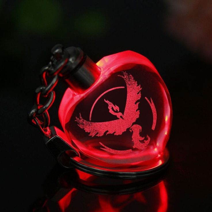 Pokémon GO Team Valor LED Light Keychain
