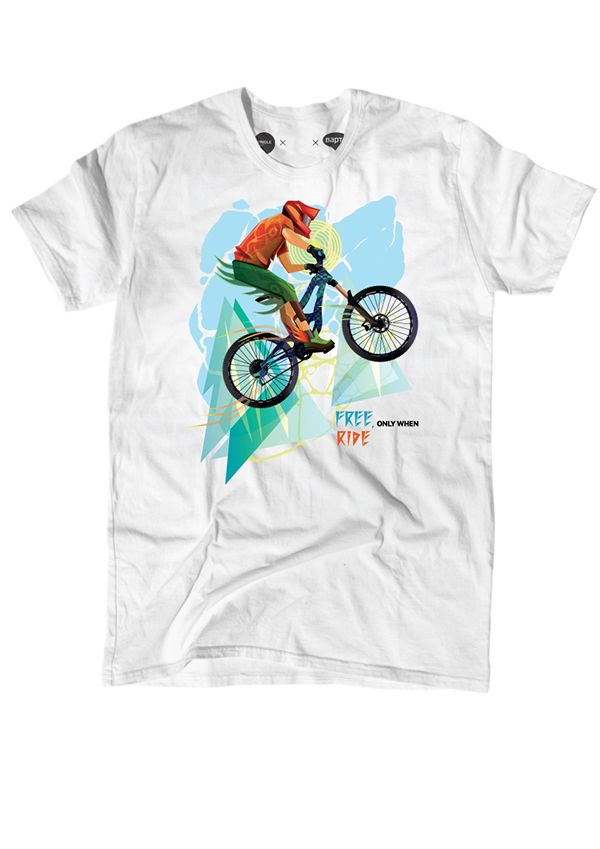 downhill biker on Behance